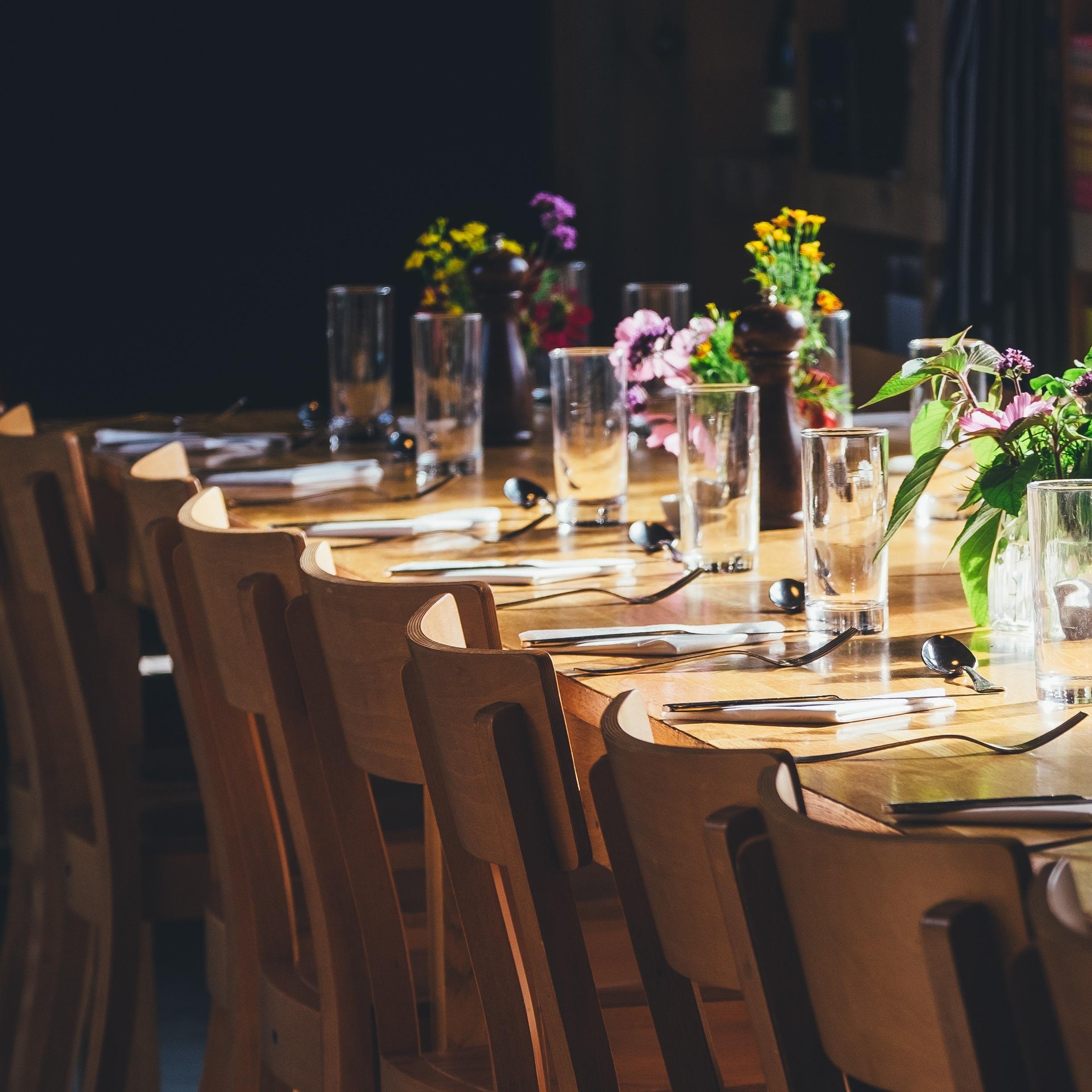 female executives dinner